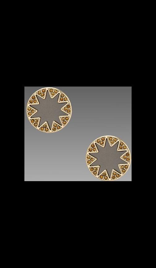 House of Harlow Earth Metal Sunburst Stud Earrings