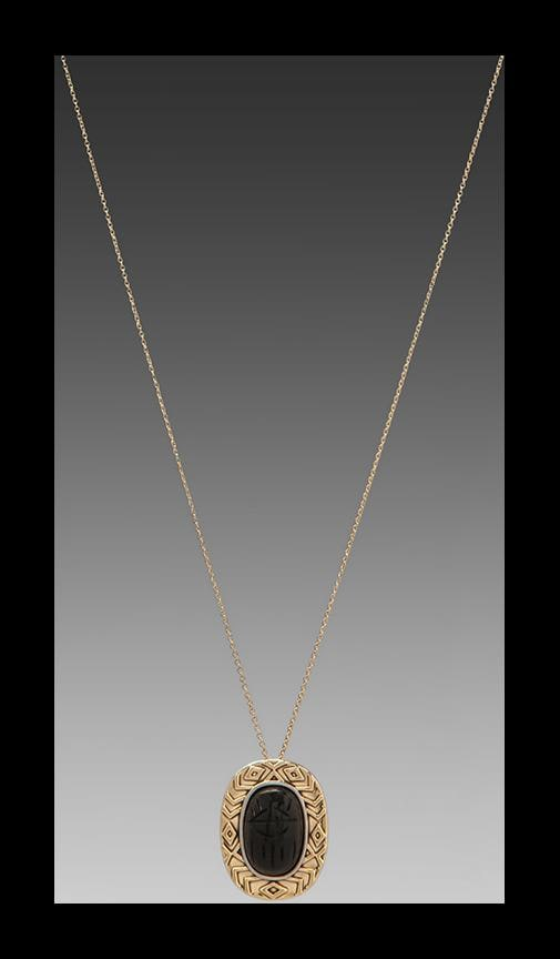 House of Harlow Heart Scarab Necklace