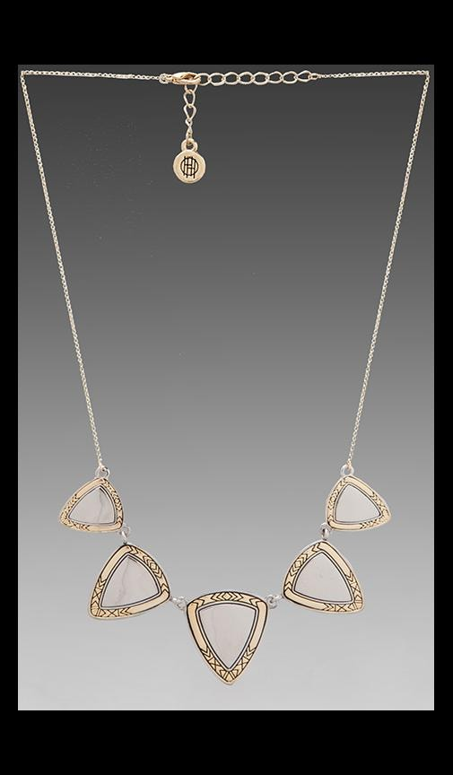 House of Harlow Metallic Flatpick Necklace