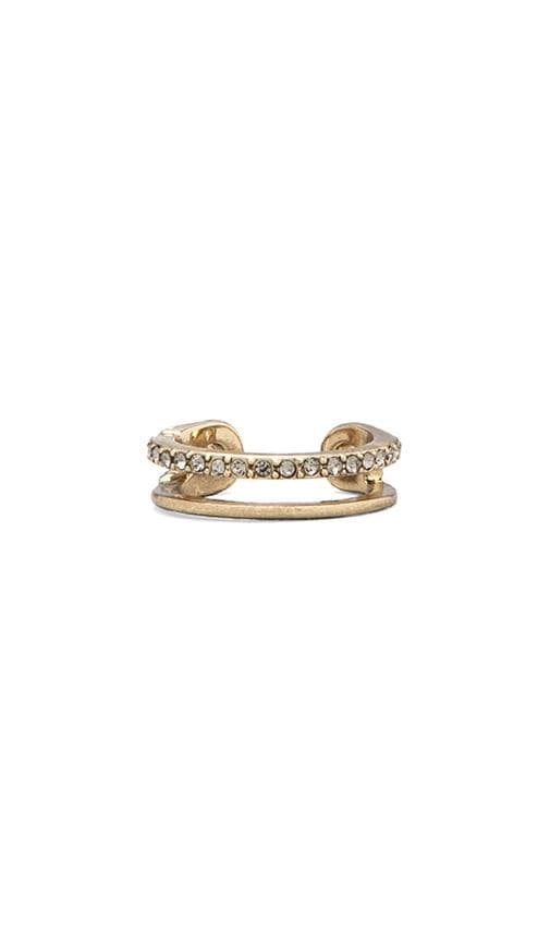 House of Harlow Pave Safety Pin Wrap Ring