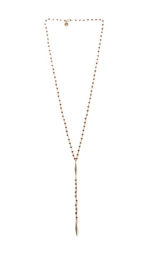House of Harlow Wooden Kharma Bead Necklace