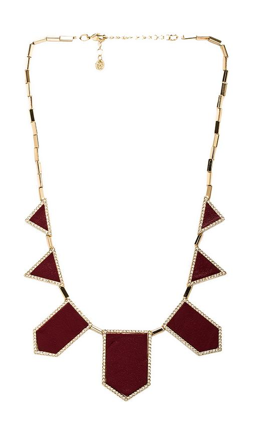 House of Harlow Pave Five Station Necklace