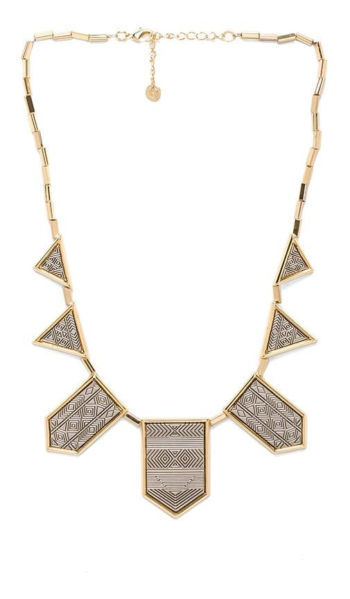 House of Harlow Engraved Classic Station Necklace