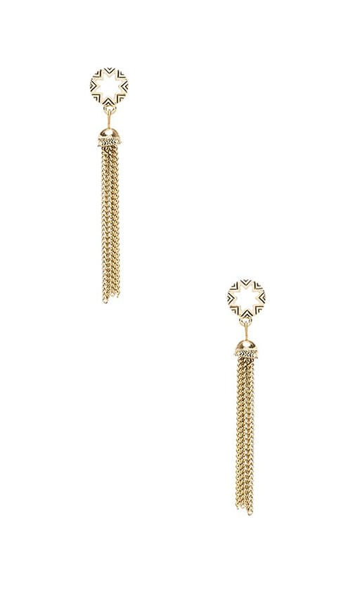 House of Harlow Sunburst Tassel Earrings