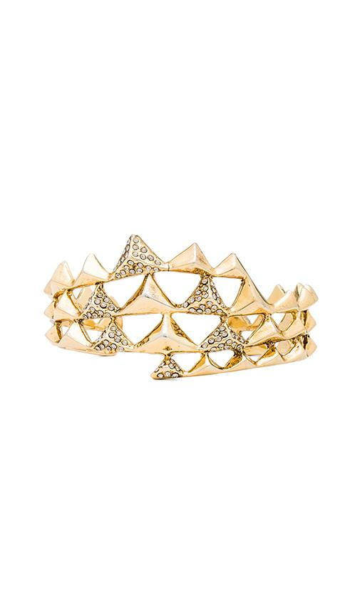 House of Harlow Pyramid Wave Pave Cuff