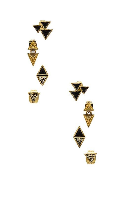 House of Harlow Tessellation Stud Earring Set