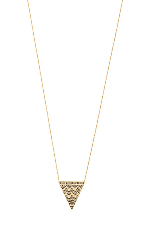 House of Harlow Pave Tribal Triangle Necklace