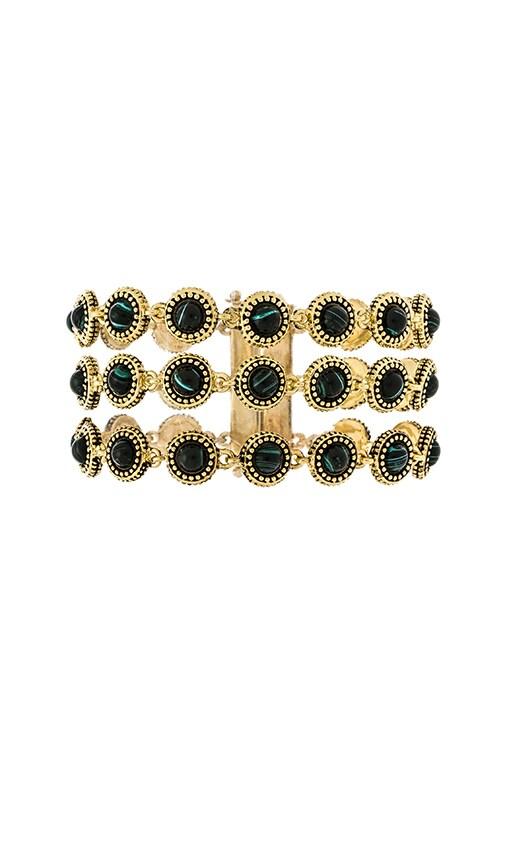 House of Harlow Cuzco Bracelet in Gold & Malachite