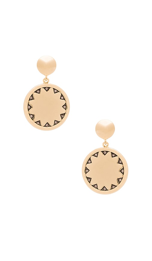 House of Harlow Incan Sun Coin Drop Earring in Gold