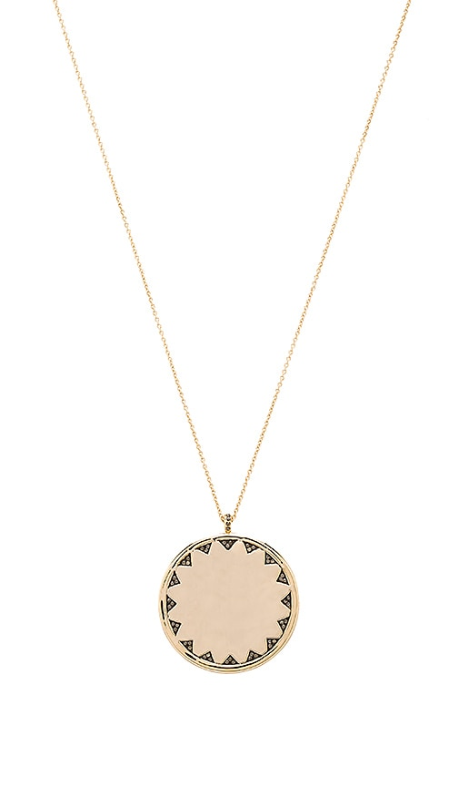 House of Harlow Incan Sun Coin Pendant Necklace in Metallic Gold