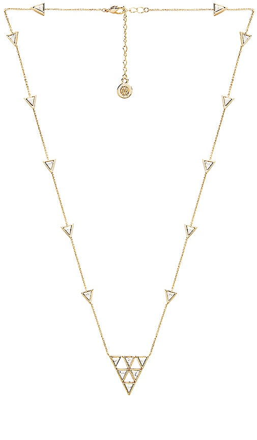 House of Harlow Triangle Trellis Necklace