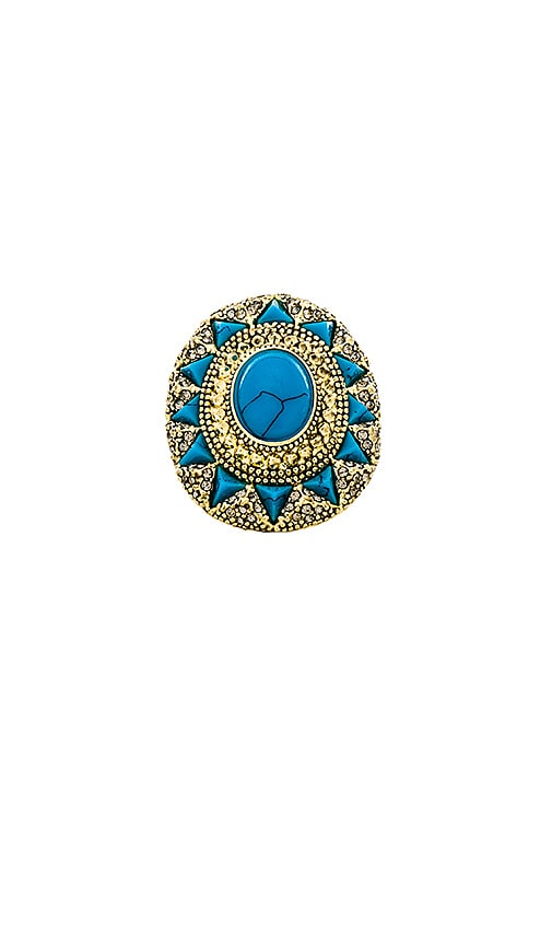 House of Harlow Wari Ruins Cocktail Ring in Turquoise