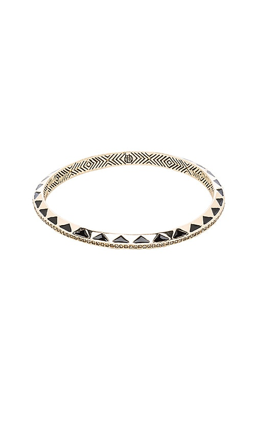 House of Harlow Spectrum Bangle in Gold & Black