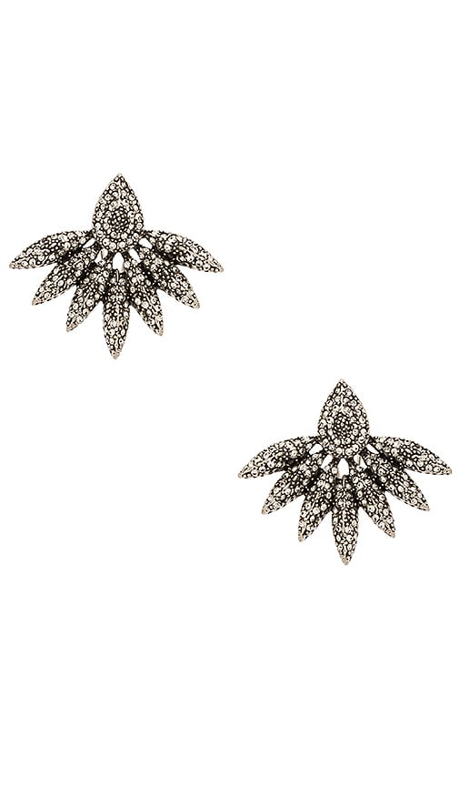House of Harlow 1960 House of Harlow Kaleidoscope Statement Earring in Silver