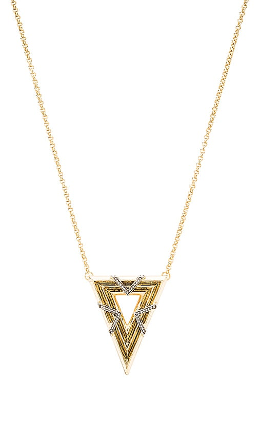 House of Harlow Vintage Muse Pendant Necklace in Metallic Gold