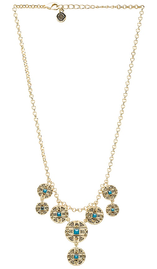 House of Harlow Maricopa Coin Collar Necklace in Metallic Gold
