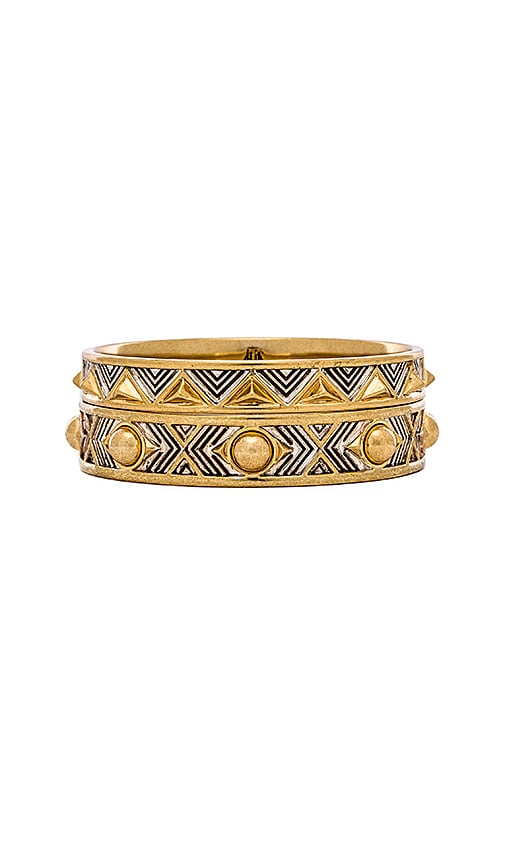 House of Harlow Desert Sun Engraved Bracelet Set in Gold & Silver