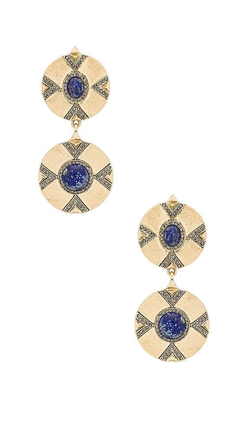 House of Harlow Dorelia Double Coin Earring in Metallic Gold