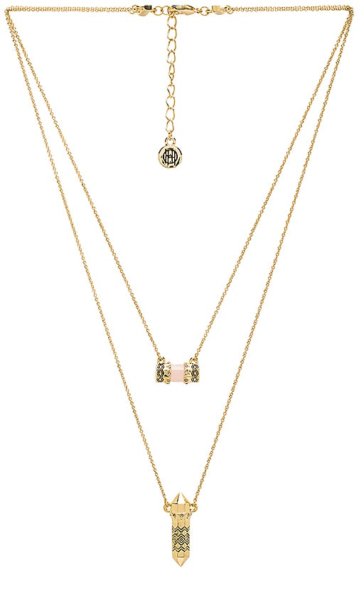 House of Harlow Prana Double Pendant Necklace