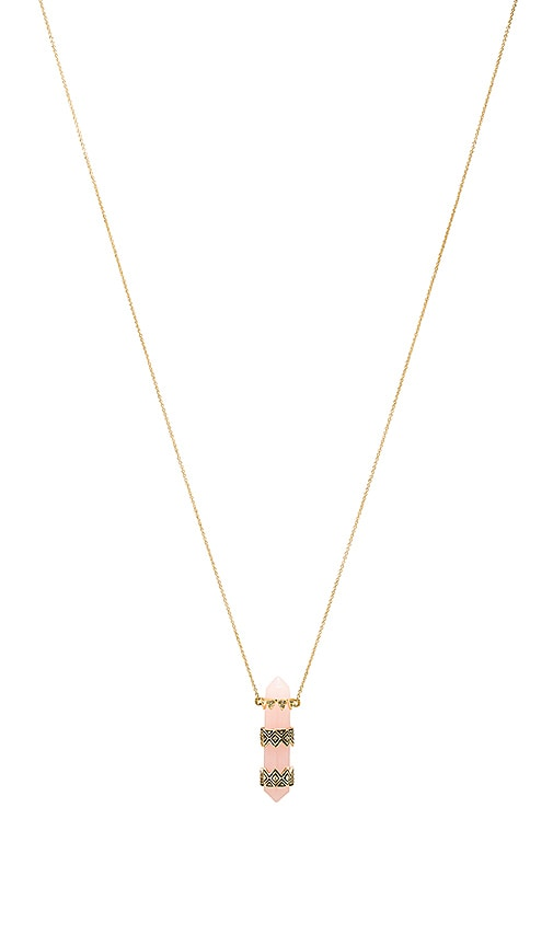 House of Harlow Prana Pendant Necklace in Metallic Gold