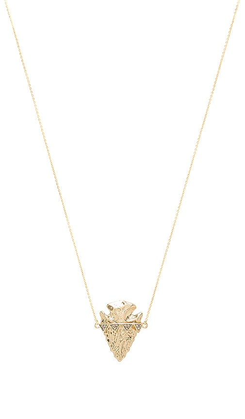 House of Harlow Mojave Pendant Necklace in Metallic Gold