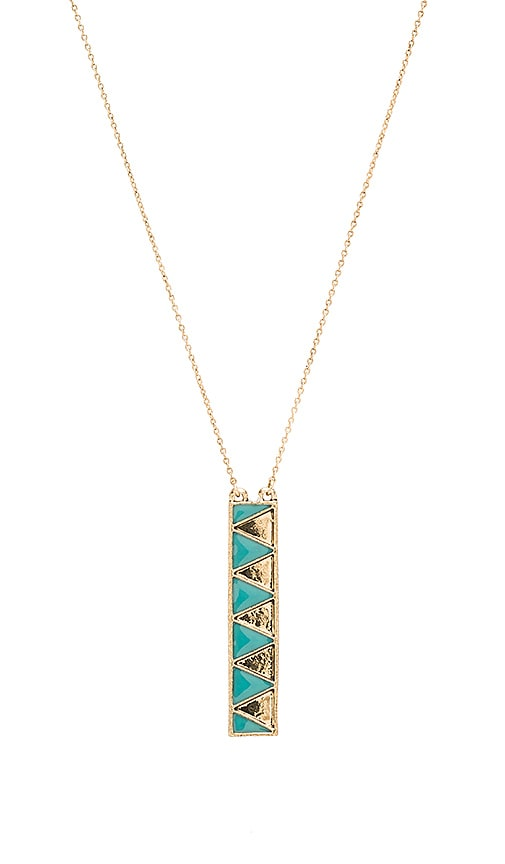 House of Harlow Peak To Peak Pendant Necklace in Metallic Gold