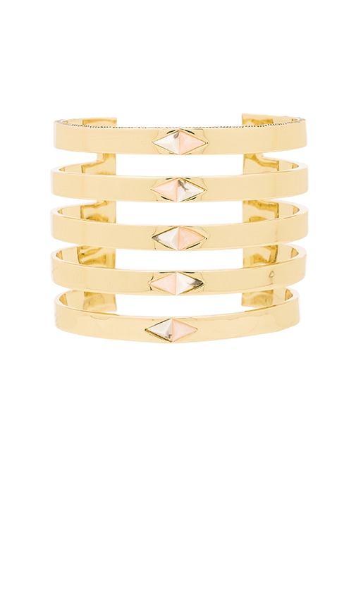 House of Harlow The Flip Side Statement Cuff in Metallic Gold