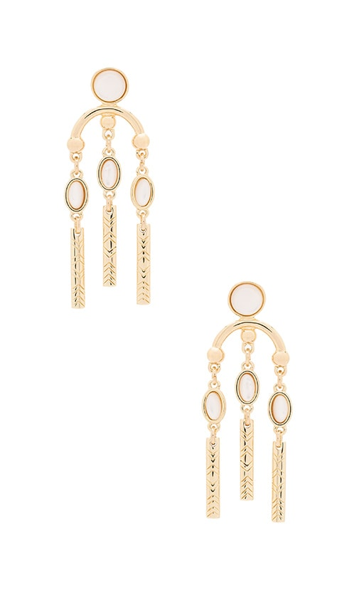 House of Harlow 1960 Desert Oasis Drop Earrings in Metallic Gold
