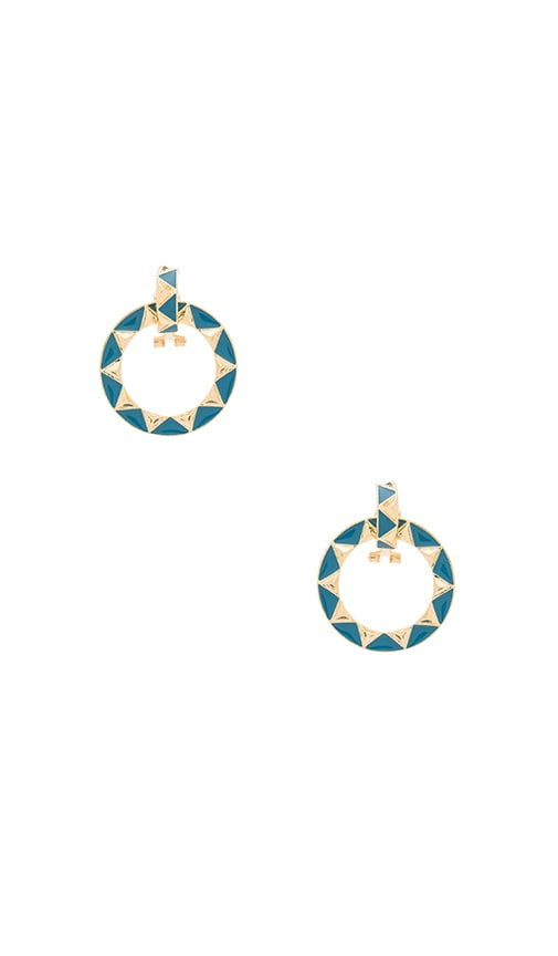 House of Harlow Nile Delta Convertible Earrings in Blue