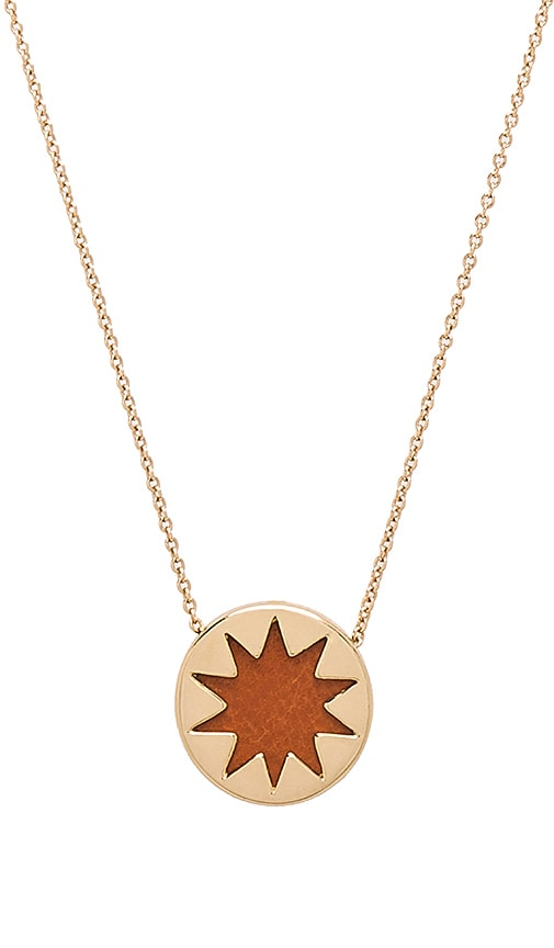House of Harlow 1960 Mini Sunburst Pendant Necklace in Metallic Gold