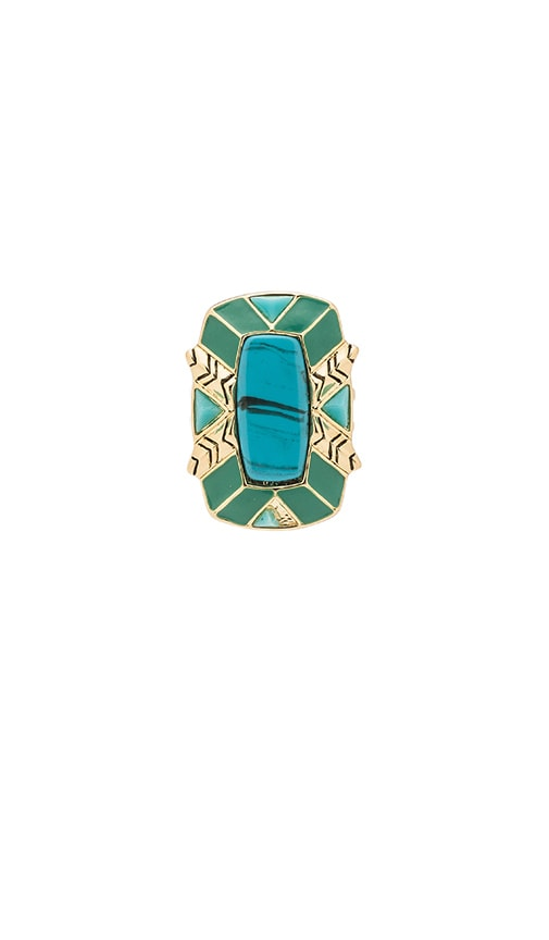 House of Harlow Nile Delta Cocktail Ring in Green