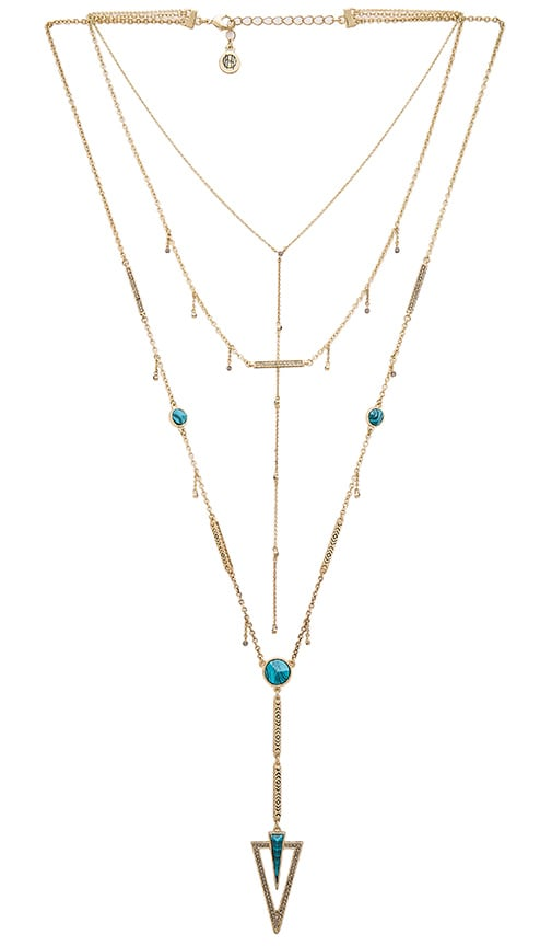 House of Harlow 1960 House of Harlow South Point Layered Necklace in Turquoise