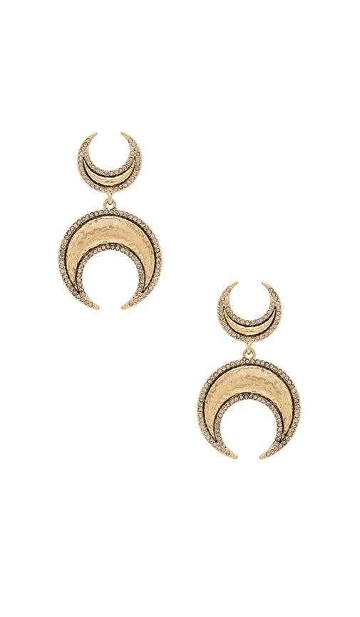 House of Harlow 1960 Gift of Iah Dangle Earring in Metallic Gold
