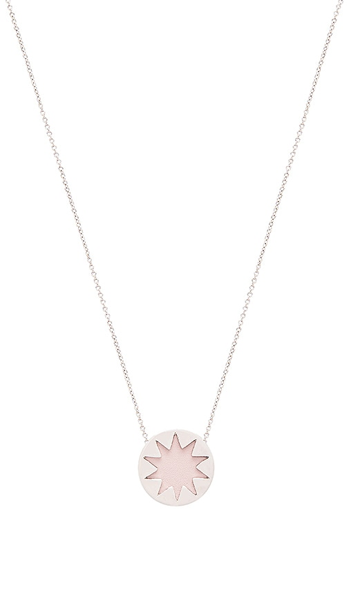 House of Harlow Mini Starburst Pendant Necklace in Metallic Silver