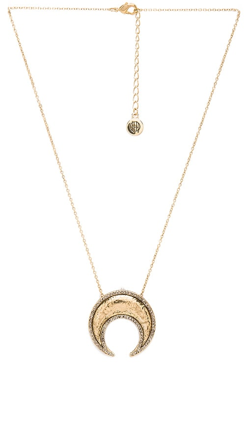 House of Harlow 1960 Gift of Iah Pendant Necklace in Metallic Gold