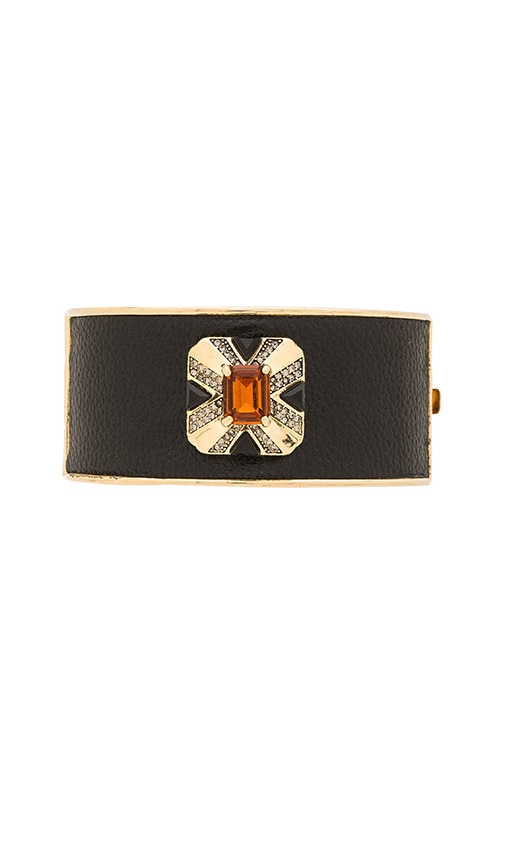 House of Harlow 1960 Art Deco Hinge Bracelet in Metallic Gold