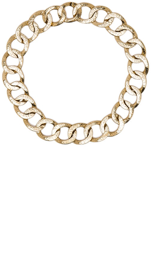 House of Harlow 1960 The Ra Chain Necklace in Metallic Gold