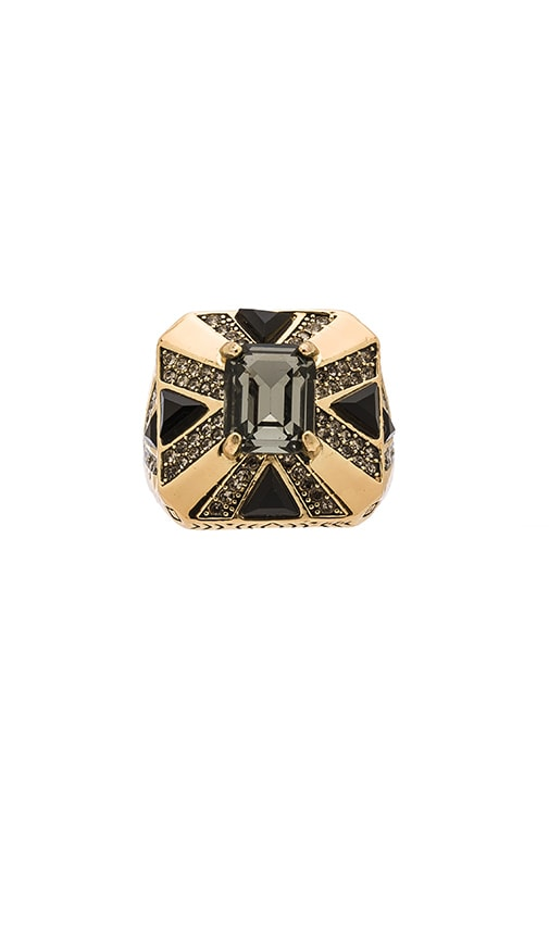 House of Harlow 1960 Art Deco Ring in Metallic Gold