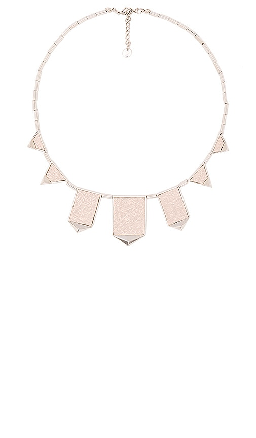 House of Harlow 1960 Classic Station Pyramid Necklace in Metallic Silver