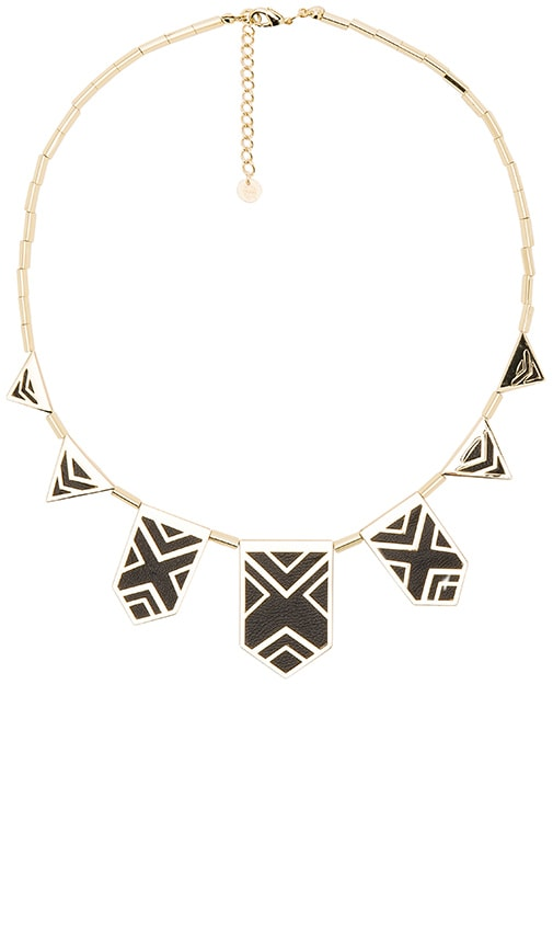 House of Harlow Classic Caged Station Necklace in Metallic Gold