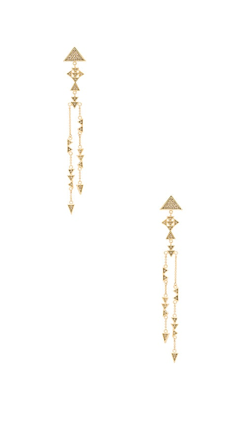 House of Harlow Astrea Drop Earring in Metallic Gold