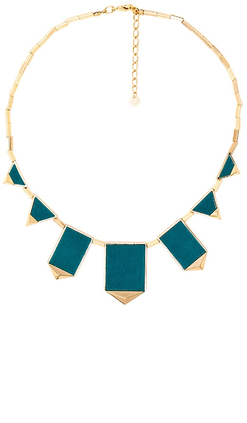 House of Harlow 1960 Classic Station Pyramid Necklace in Metallic Gold