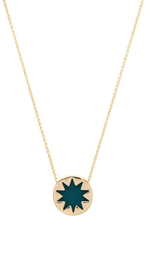 House of Harlow Mini Starburst Pendant Necklace in Metallic Gold