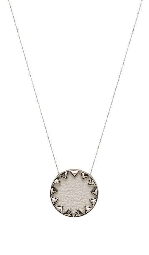 House of Harlow 1960 Sunburst Pyramid Necklace in Metallic Silver