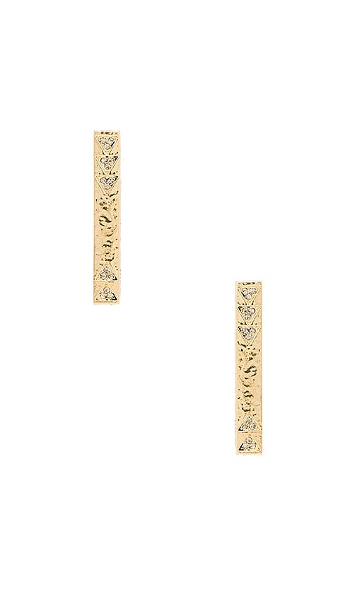 House of Harlow 1960 Scutum Bar Earrings in Metallic Gold