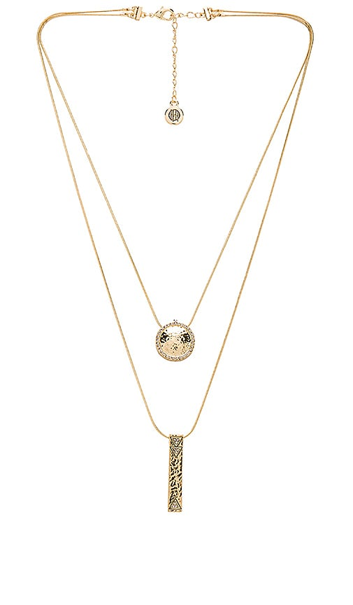 Scutum Double Pendant Necklace