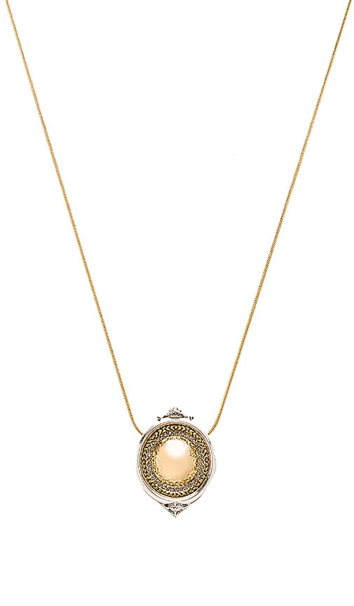 House of Harlow 1960 Scutum Pendent Necklace in Metallic Gold
