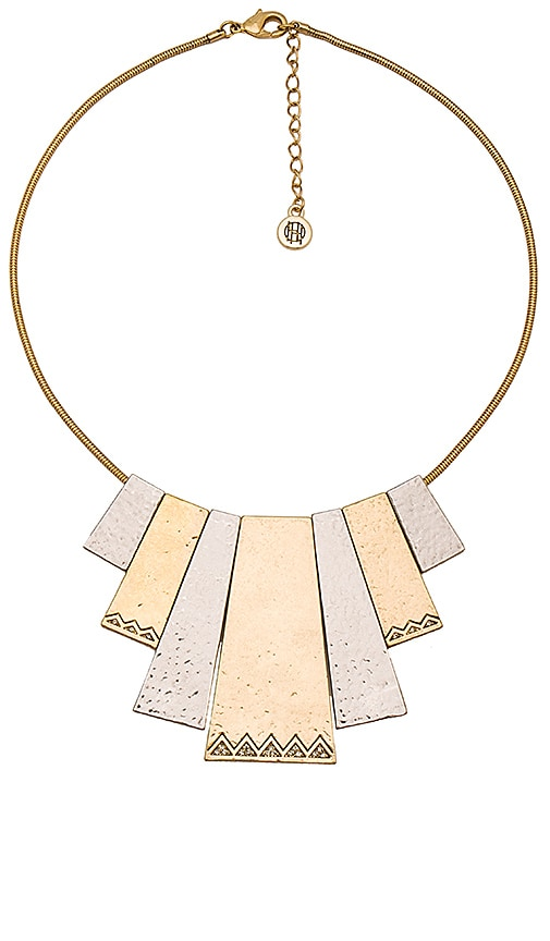 House of Harlow 1960 Scutum Statement Necklace in Metallic Gold