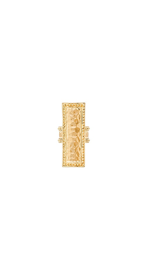 House of Harlow 1960 Helicon Statement Ring in Metallic Gold