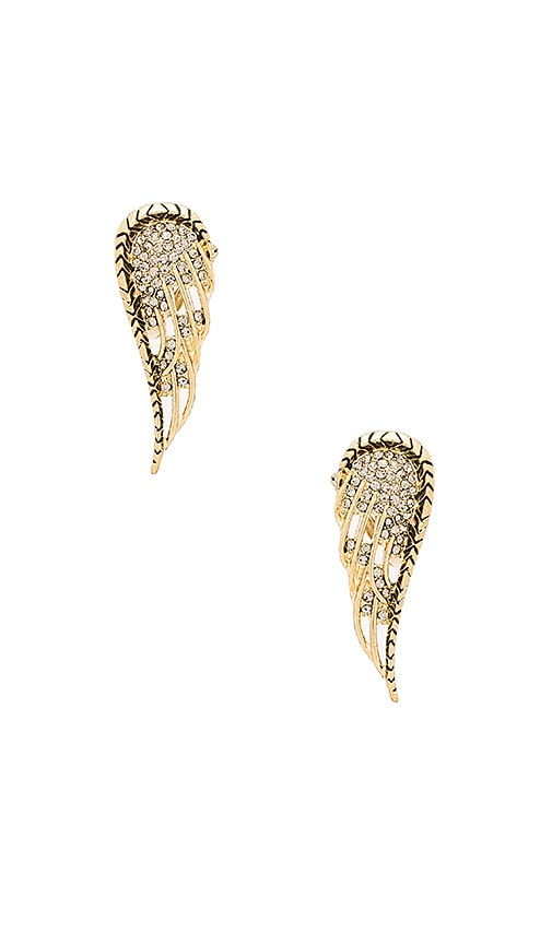 House of Harlow 1960 Aquila Wing Clip On Earrings in Metallic Gold